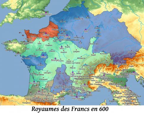 Royaumes des francs en 600