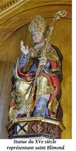 Statue de saint blimond